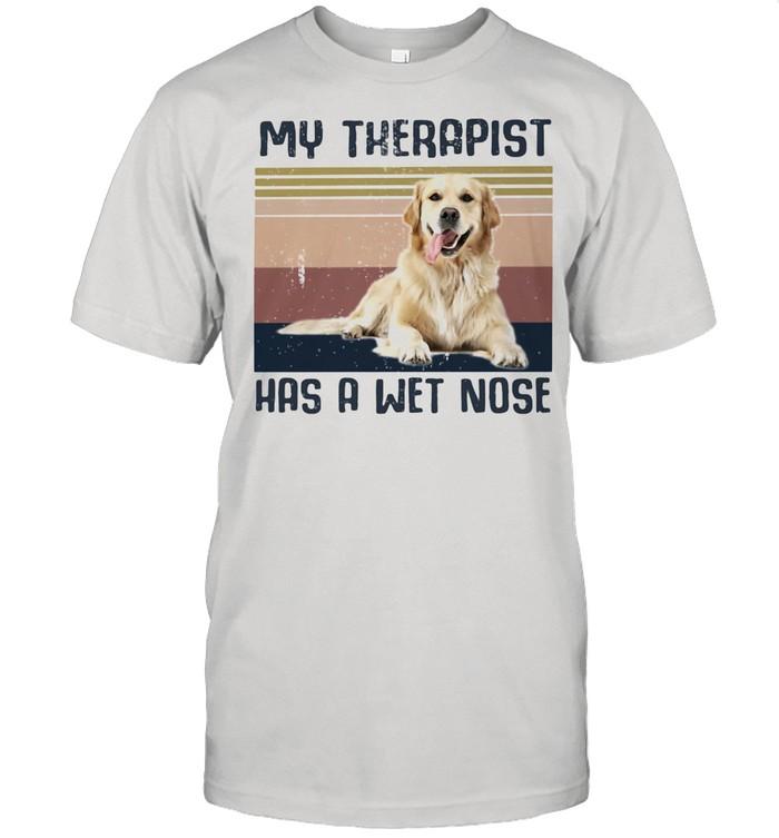 My Therapist Has A Wet Nose Golden Dog Vintage shirt Classic Men's T-shirt