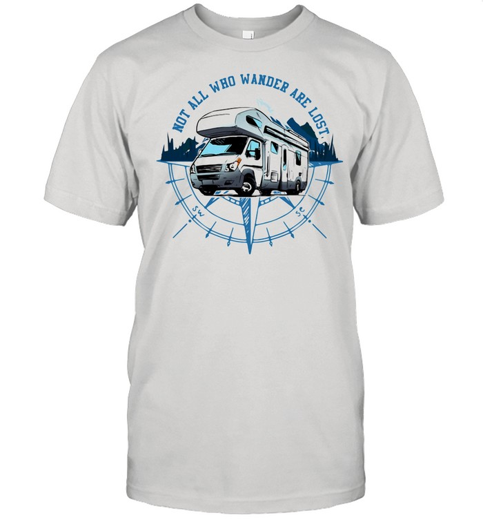 Not All Who Wander Are Lost Camping Car shirt Classic Men's T-shirt