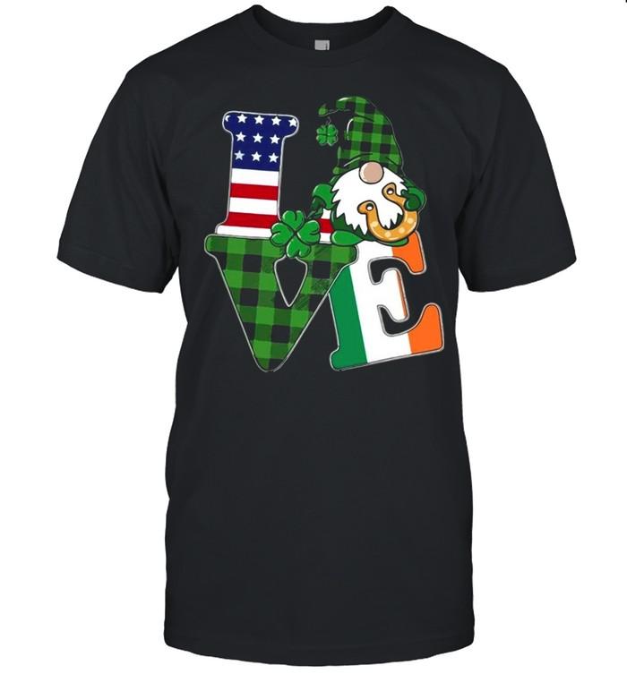 American flag Gnome Love St Patricks Day shirt Classic Men's T-shirt