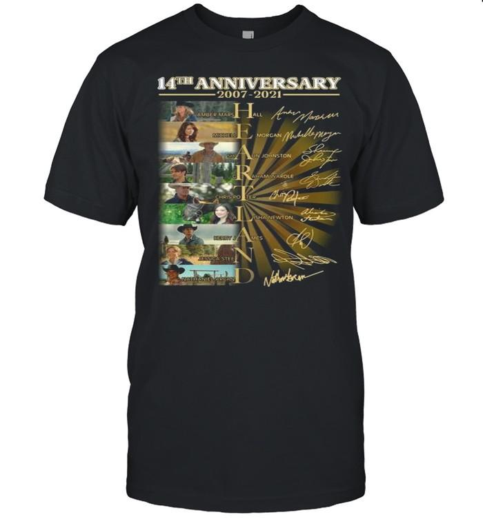 Heartland Movie Character 14th Anniversary 2007 2021 Signatures shirt Classic Men's T-shirt
