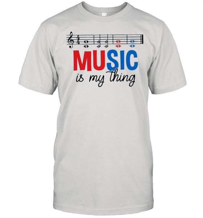 Music is my thing shirt Classic Men's T-shirt