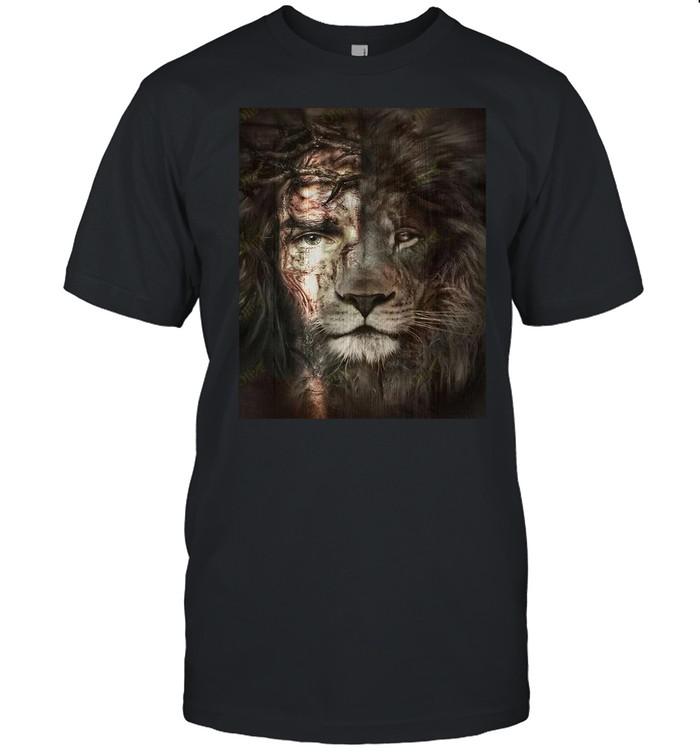 Jesus And Lion shirt Classic Men's T-shirt