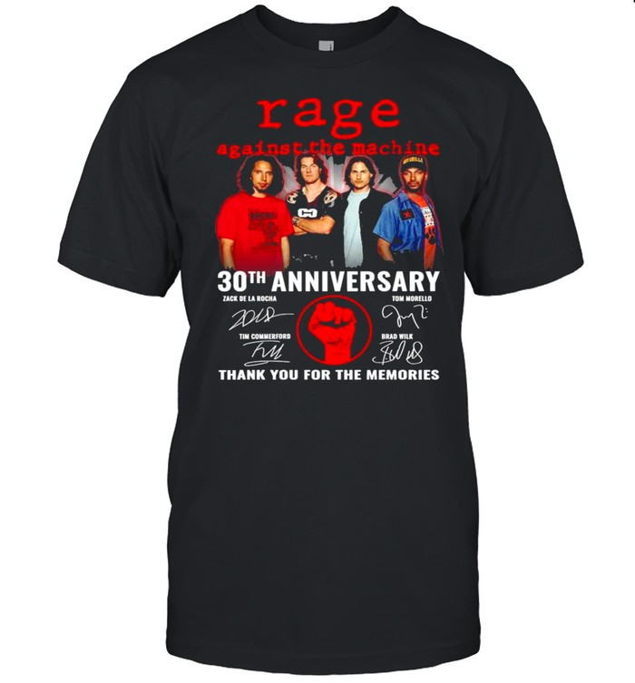 Rage Against The Machine 30th Anniversary Signatures Thank You For The Memories  Classic Men's T-shirt
