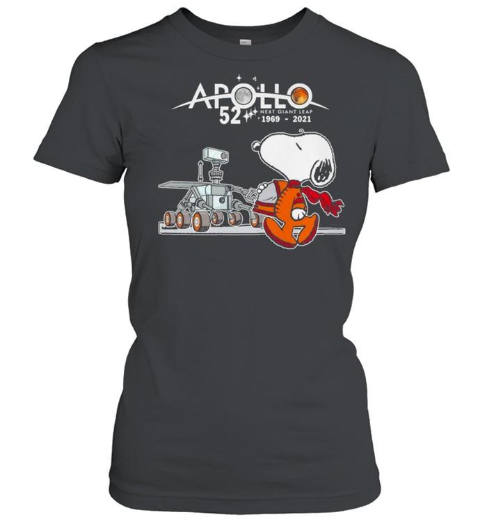 Snoopy Apollo 52 Next Giant Leap 1969 2021 shirt Classic Women's T-shirt