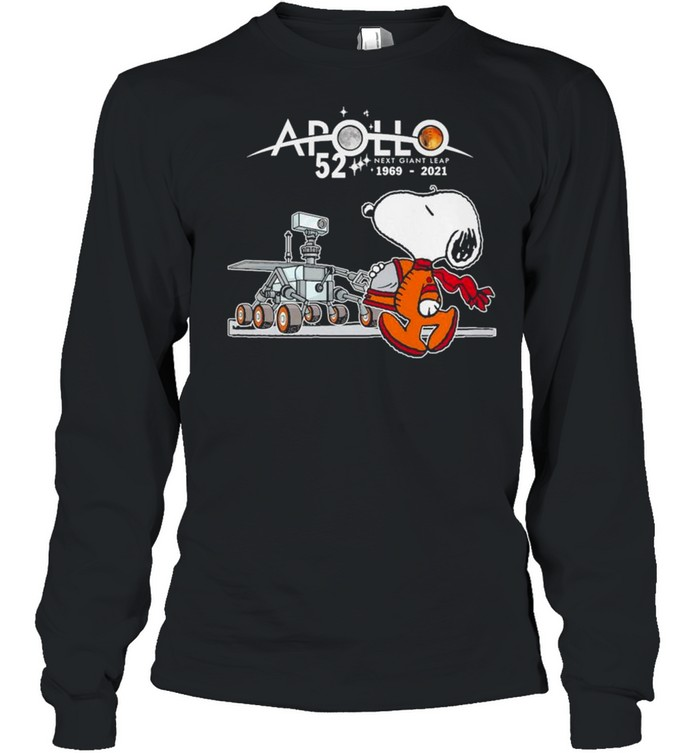 Snoopy Apollo 52 Next Giant Leap 1969 2021 shirt Long Sleeved T-shirt