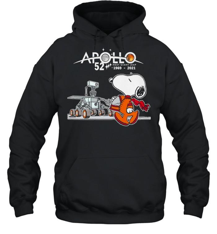 Snoopy Apollo 52 Next Giant Leap 1969 2021 shirt Unisex Hoodie