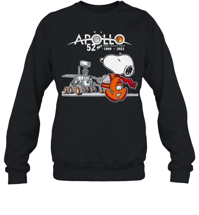 Snoopy Apollo 52 Next Giant Leap 1969 2021 shirt Unisex Sweatshirt