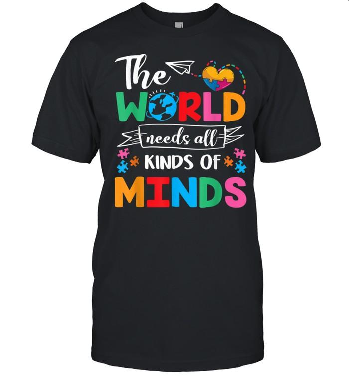 The World Needs All Kinds of Minds Autism Awareness ASD shirt Classic Men's T-shirt