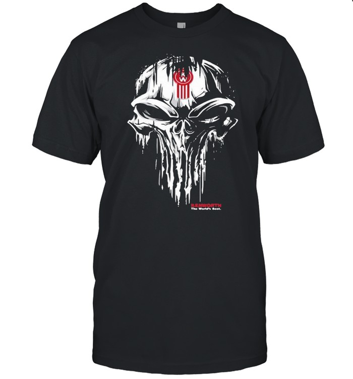 Punisher Skull With Kenworth Car Logo  Classic Men's T-shirt