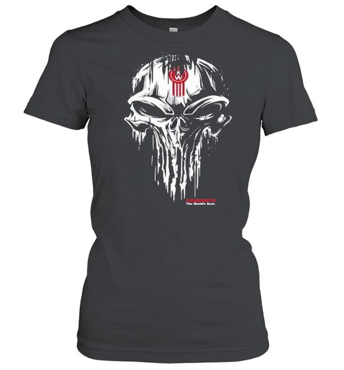 Punisher Skull With Kenworth Car Logo Classic Women's T-shirt