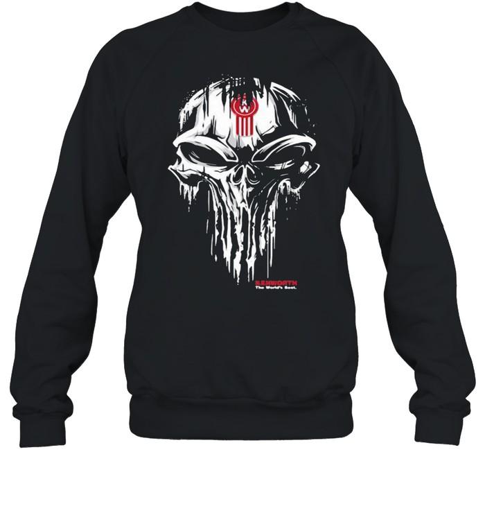 Punisher Skull With Kenworth Car Logo Unisex Sweatshirt