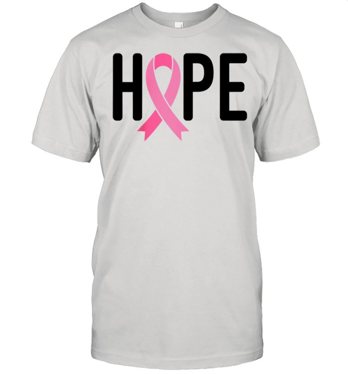 Breast Cancer Fighter Survivor Hope Pink Ribbon Warrior shirt Classic Men's T-shirt