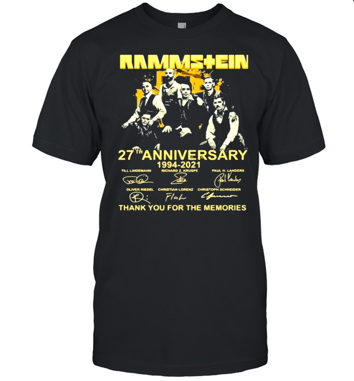 Rammstein 27th Anniversary 1994 2021 Thank You For The Memories Signature  Classic Men's T-shirt