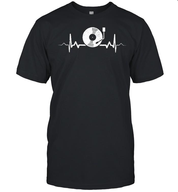 Vinyl record heartbeat vintage shirt Classic Men's T-shirt