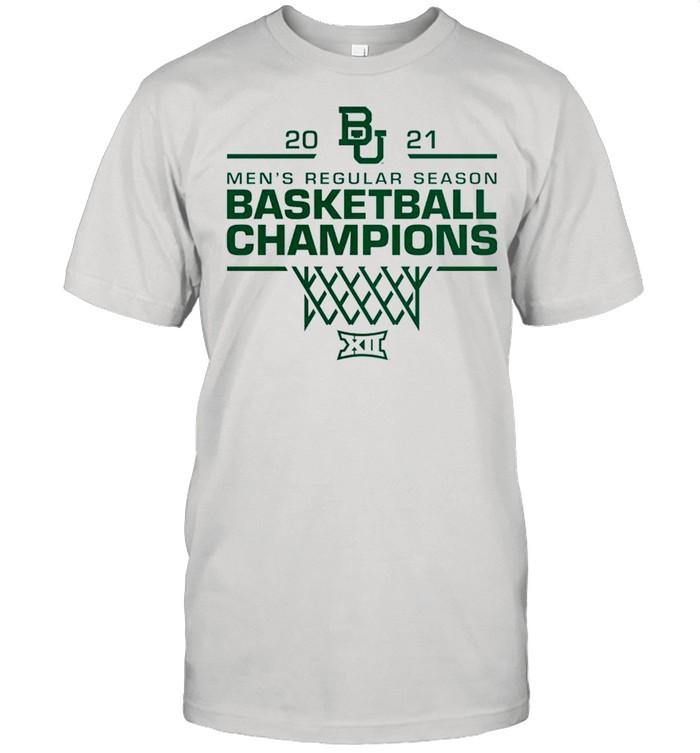 Baylor Bears 2021 men's Regular season basketball Champion shirt Classic Men's T-shirt