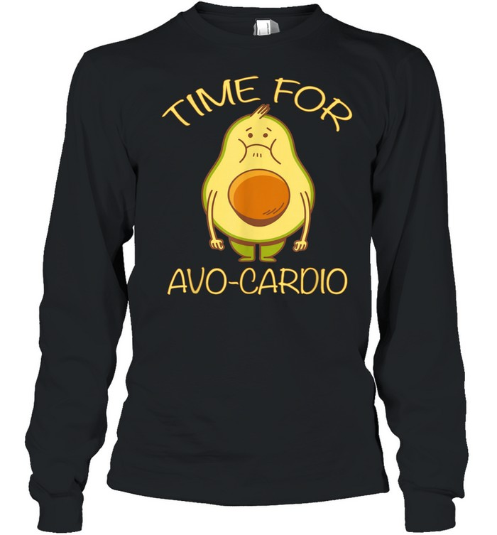 Lustiges Avocado Fitness Time for AvoCardio shirt Long Sleeved T-shirt
