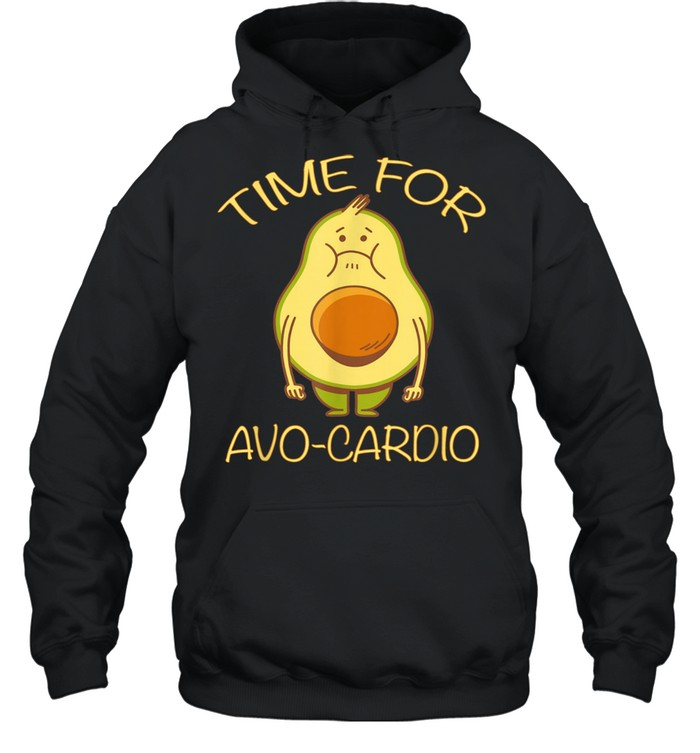 Lustiges Avocado Fitness Time for AvoCardio shirt Unisex Hoodie