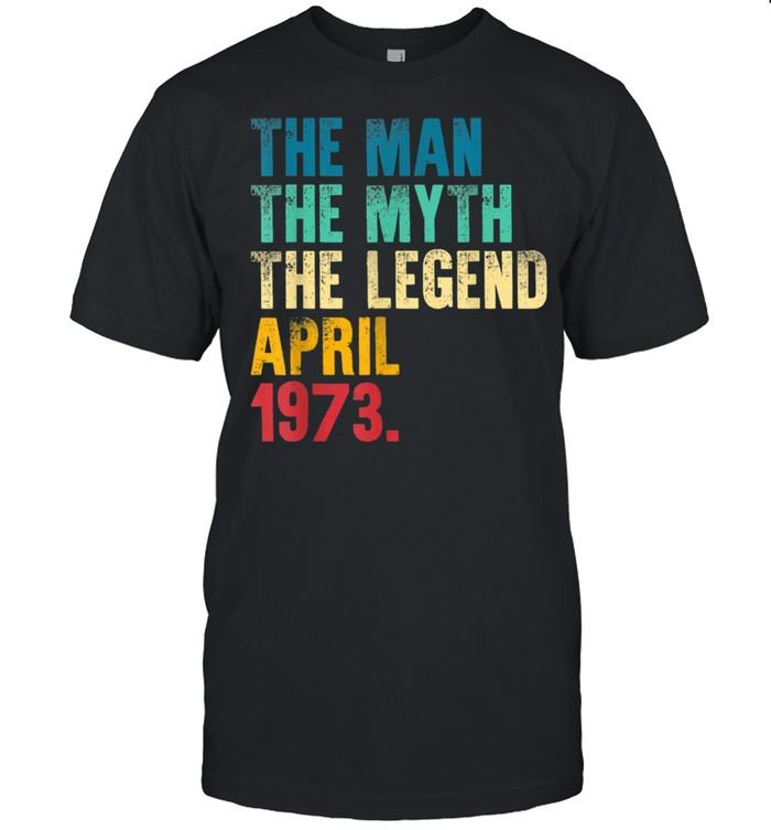 Mens Vintage 1973 Man Myth Legend 48th Bday Retro 48 Yrs Old shirt Classic Men's T-shirt