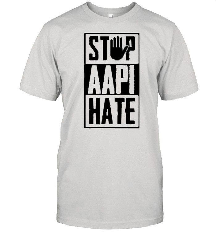 Stop Aapi Hate Stop Hand Sign Asian  Classic Men's T-shirt