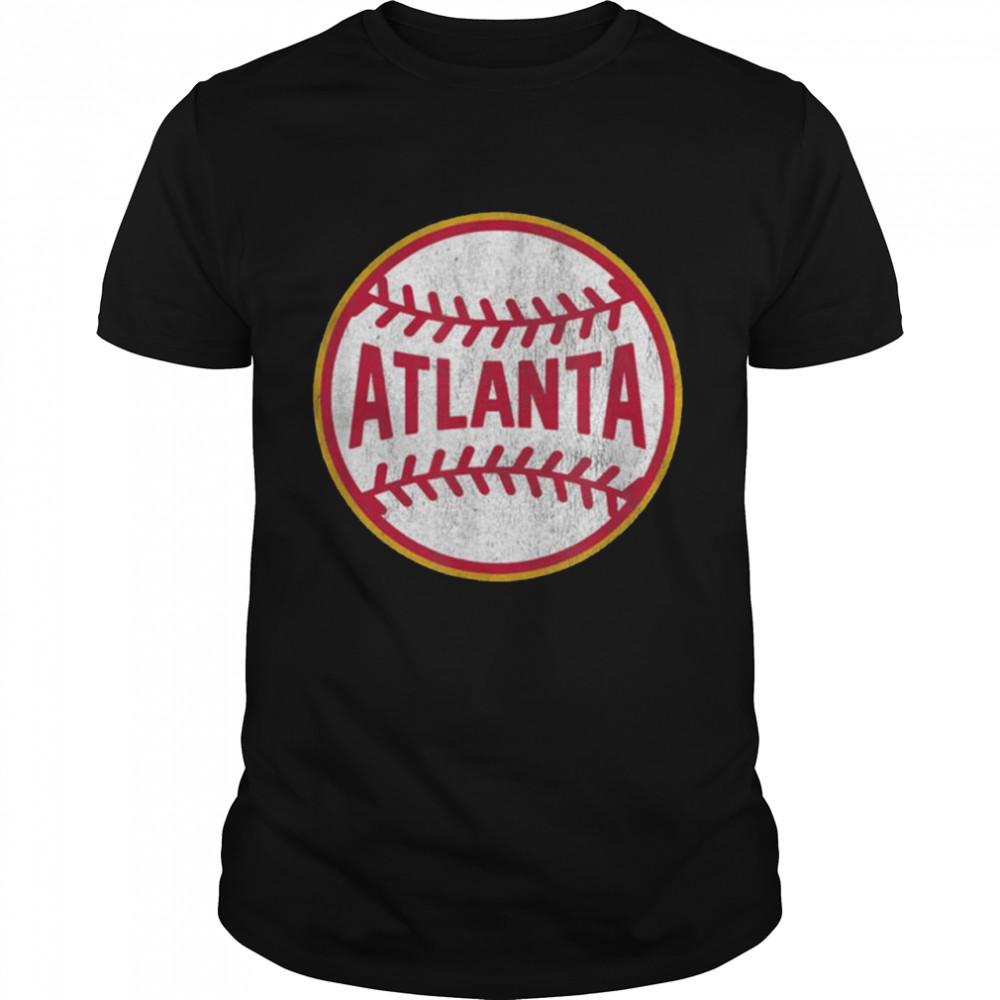 Vintage Atlanta Baseball Stitches  Classic Men's T-shirt