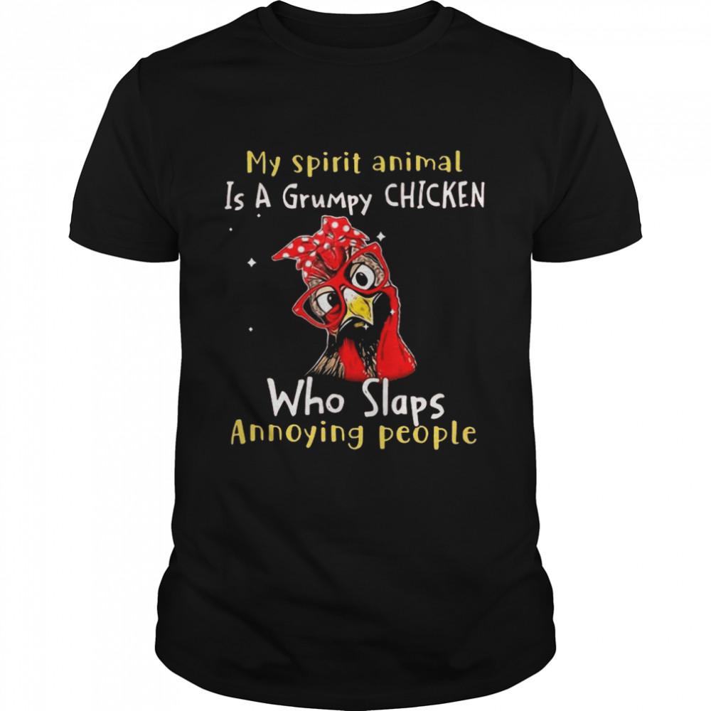 My Spirit Animal Is A Grumpy Chicken shirt Classic Men's T-shirt