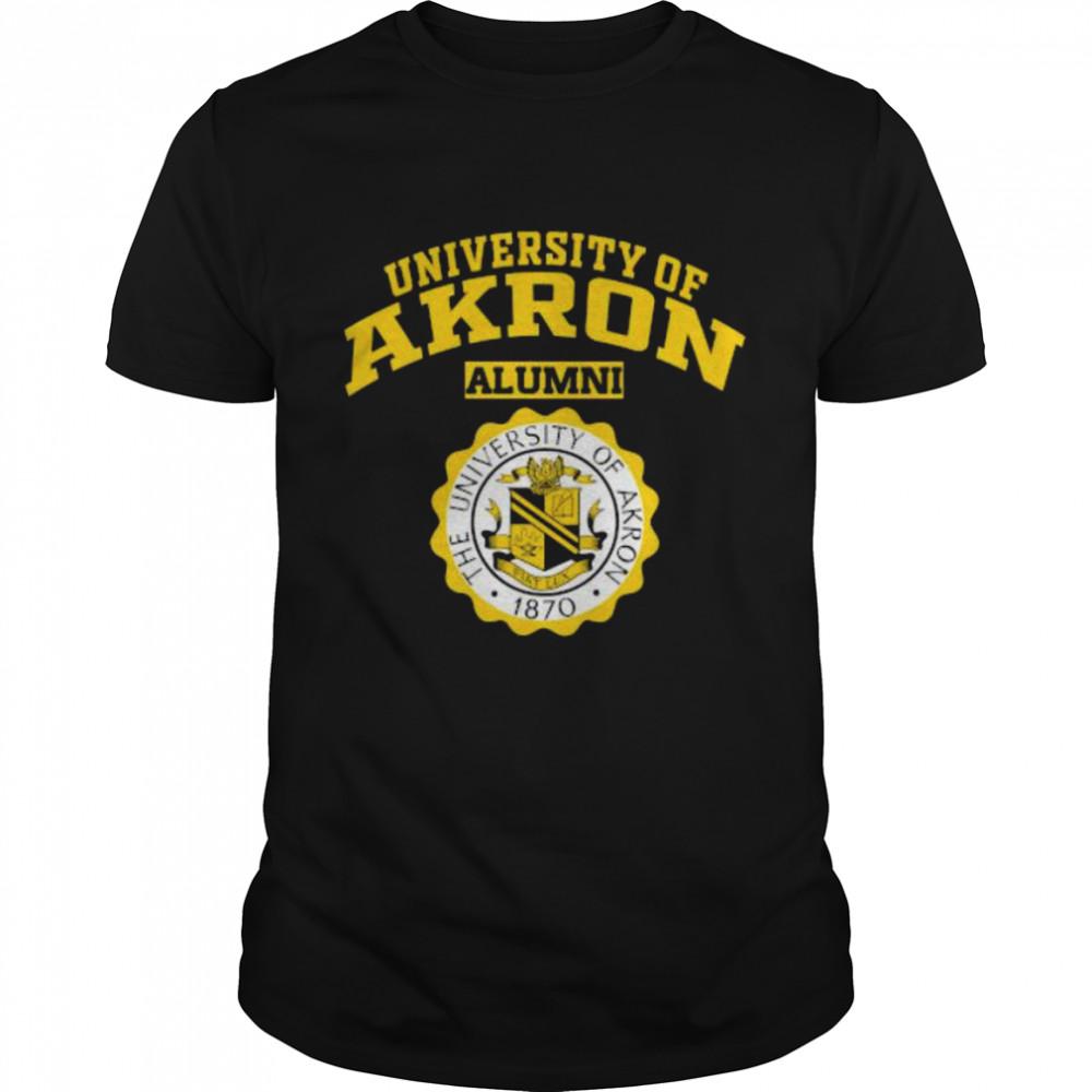 University Of Akron Alumni 1870 Logo  Classic Men's T-shirt