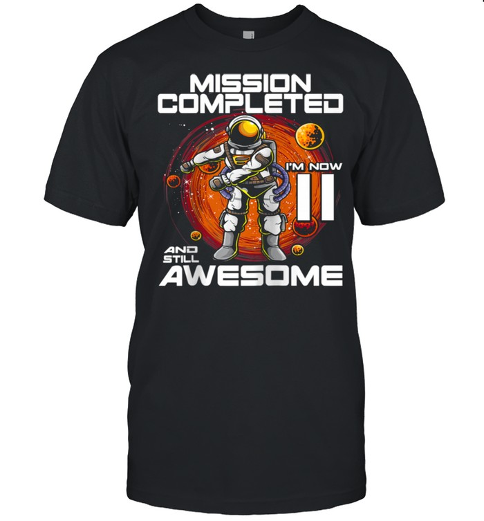 11th Birthday Astronaut 11 Years Old Outer Space Birthday  Classic Men's T-shirt