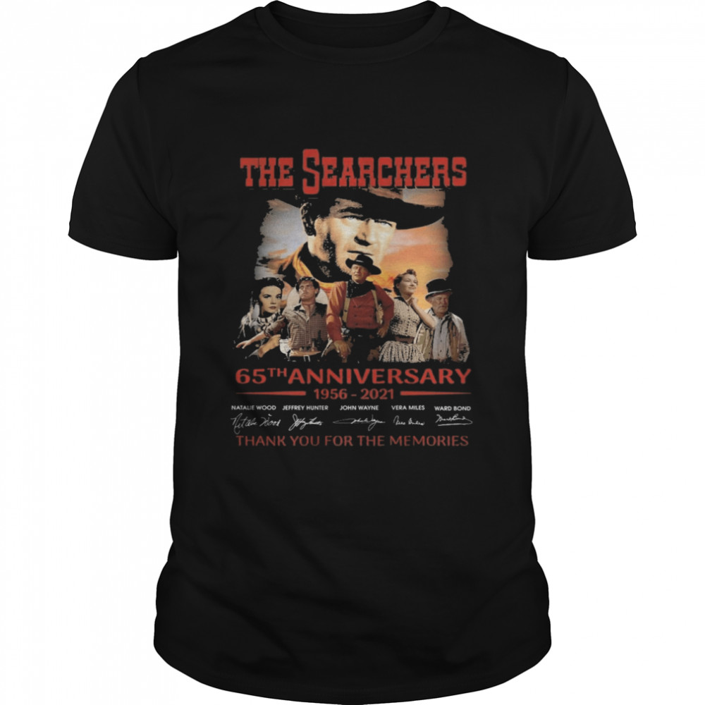The Searchers 65th anniversary 1956 2021 signatures thank you for the memories shirt Classic Men's T-shirt