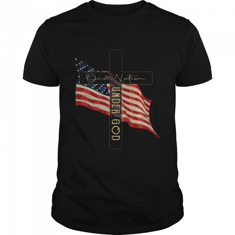One Nation Under God shirt Classic Men's T-shirt
