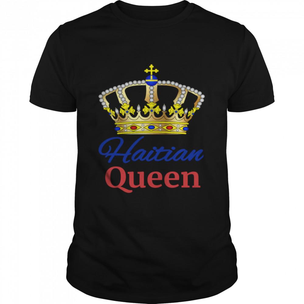 Haitian Queen Perfect Haiti Crown Flag  Classic Men's T-shirt