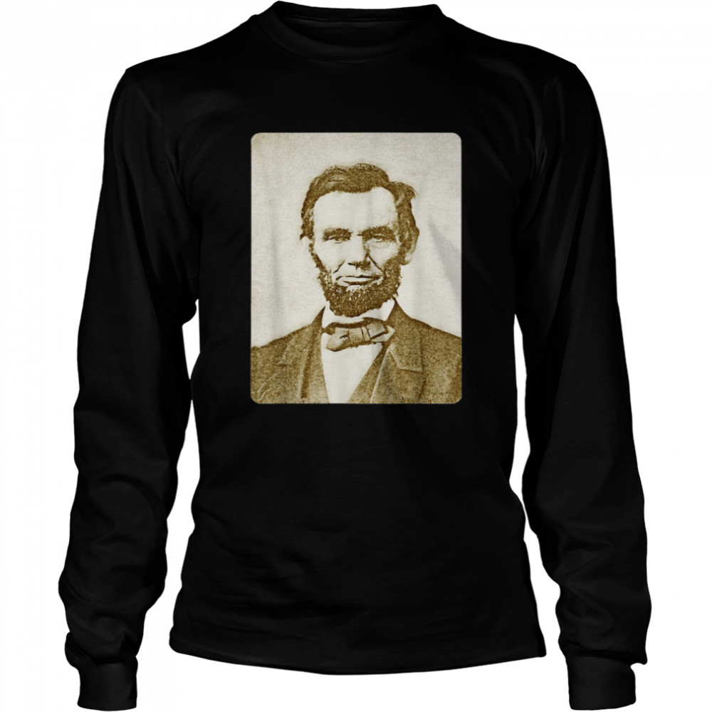 Honest Abe Lincoln Watercolor Painting Sepia  Long Sleeved T-shirt