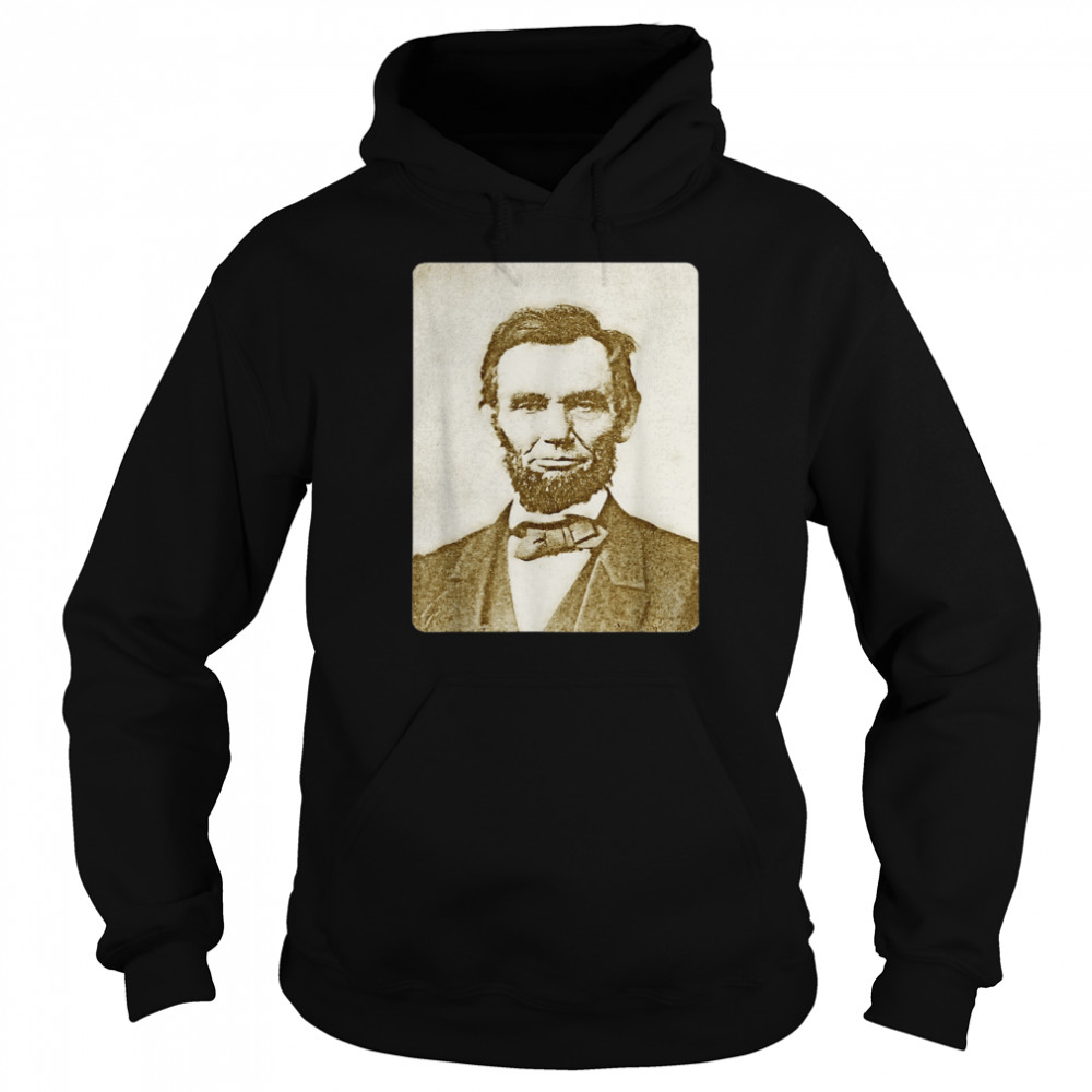 Honest Abe Lincoln Watercolor Painting Sepia  Unisex Hoodie