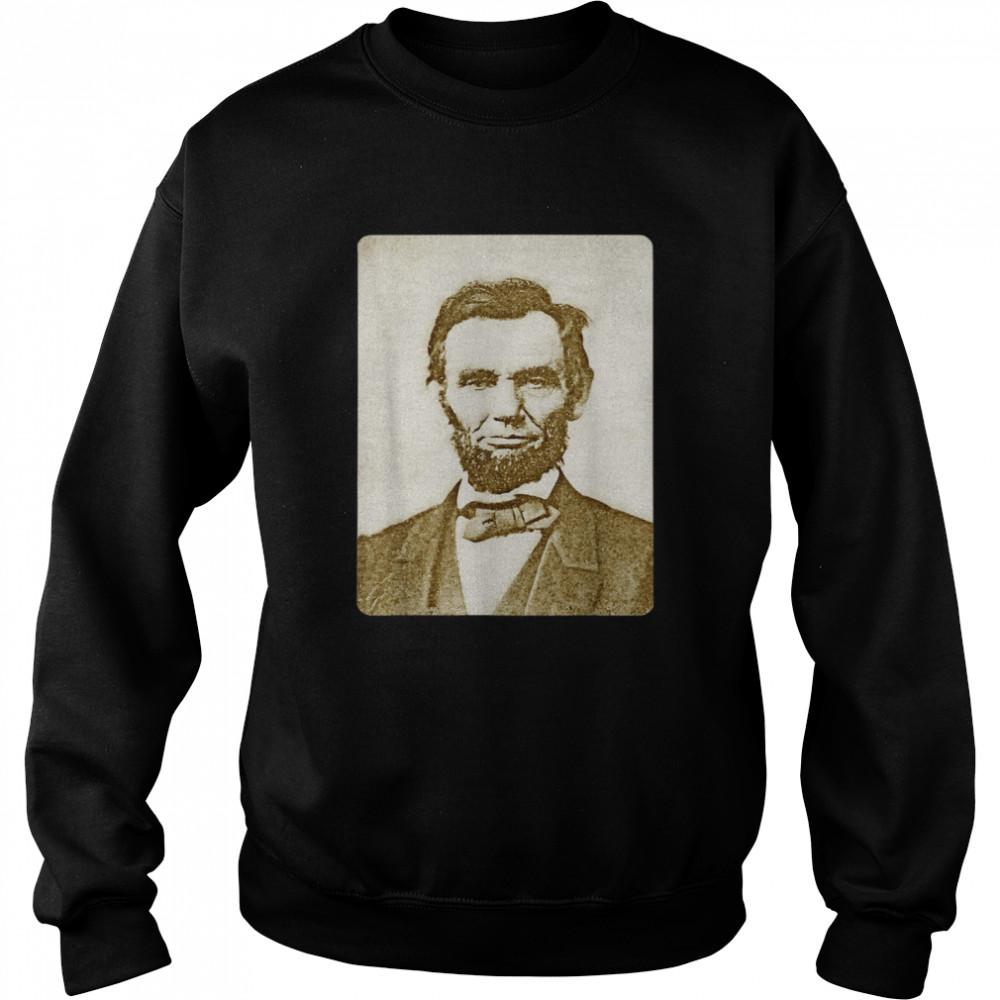 Honest Abe Lincoln Watercolor Painting Sepia  Unisex Sweatshirt