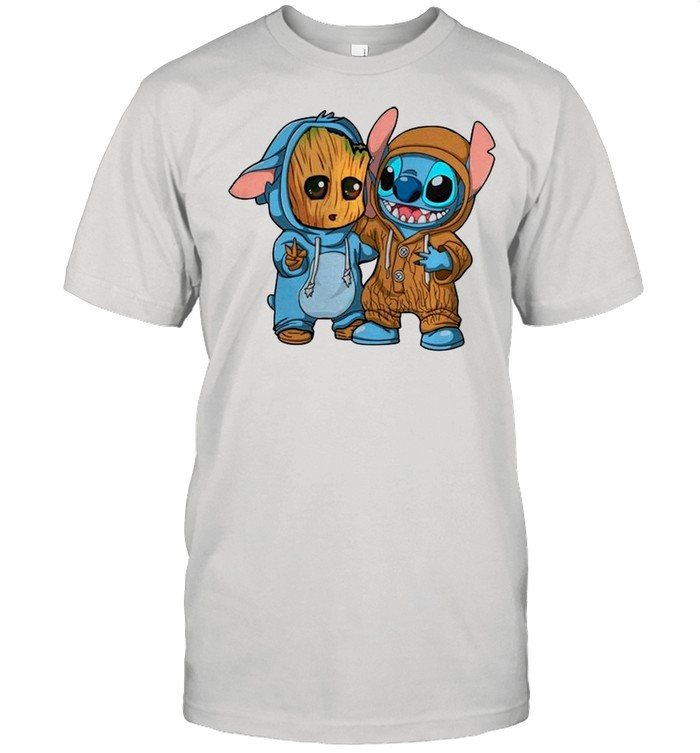 Baby Groot And Stitch Is Best Friend shirt Classic Men's T-shirt