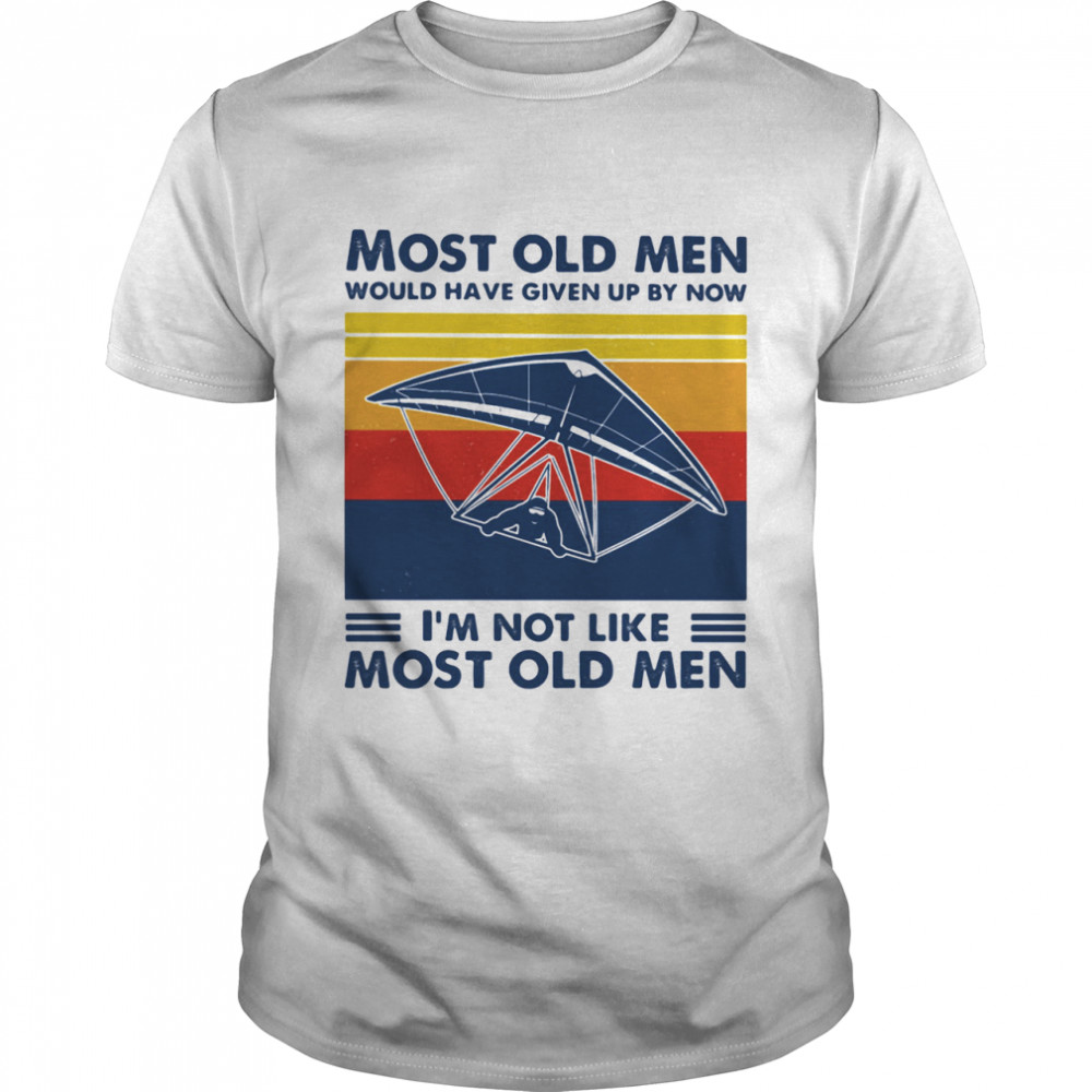 Most Old Men Would Have Given Up By Now I'm Not Like Most Old Men Skiing Vintage  Classic Men's T-shirt