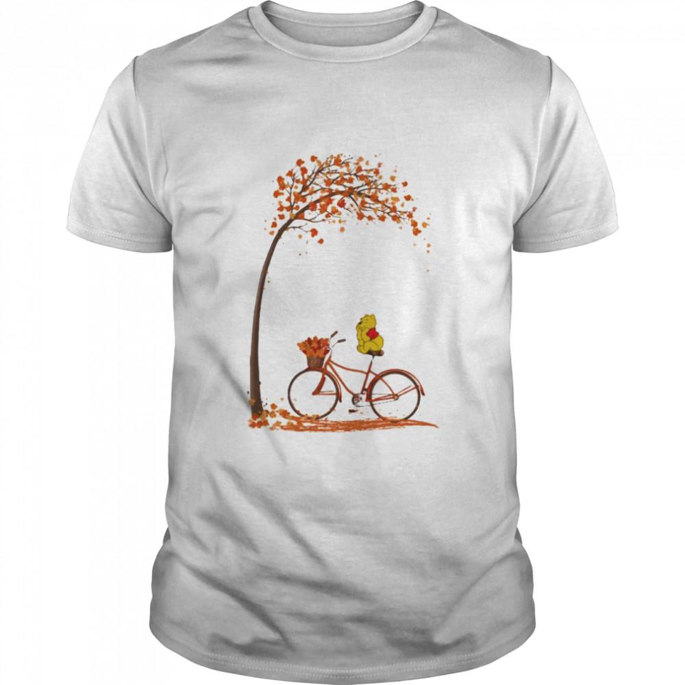 Autumn Pooh Bicycle  Classic Men's T-shirt