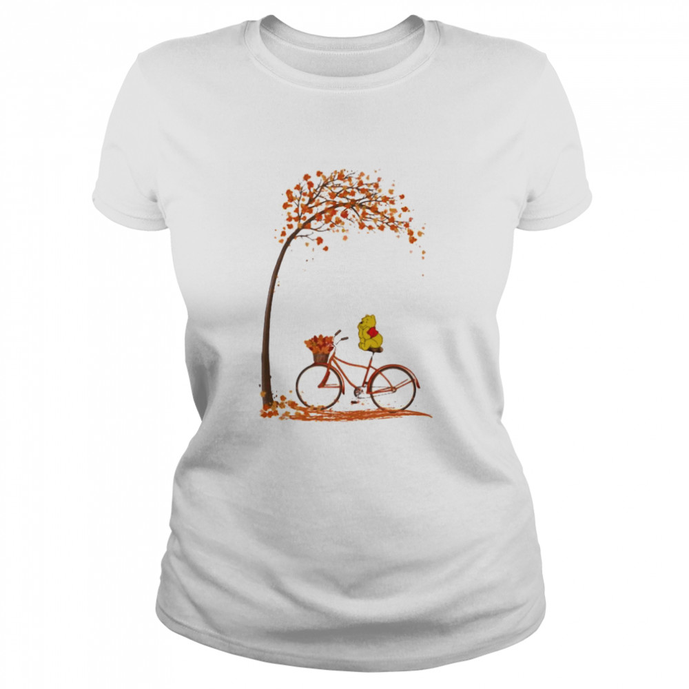 Autumn Pooh Bicycle  Classic Women's T-shirt