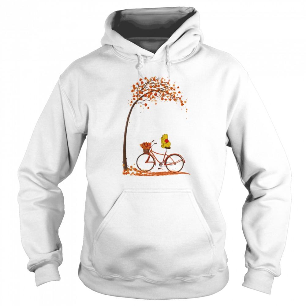 Autumn Pooh Bicycle  Unisex Hoodie