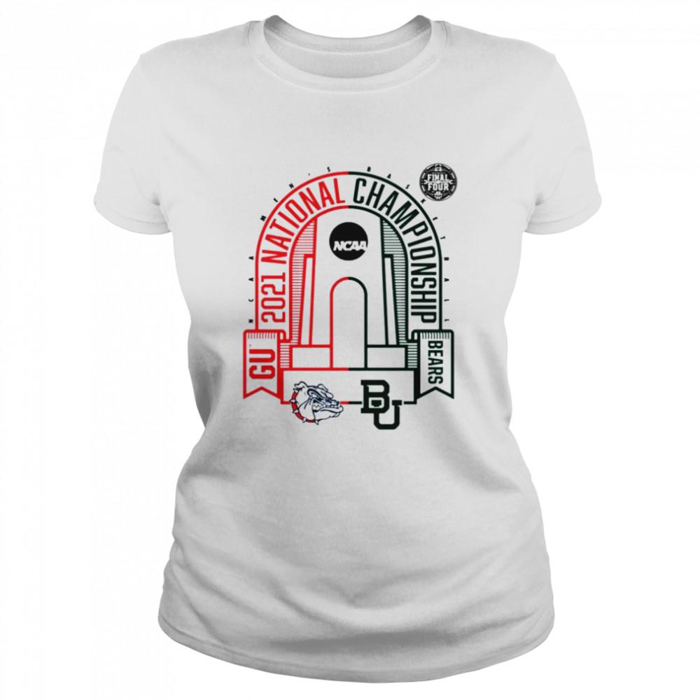 Baylor Bears vs Gonzaga Bulldogs National Championship Matchup Zone 2021 NCAA Men's Basketball shirt Classic Women's T-shirt