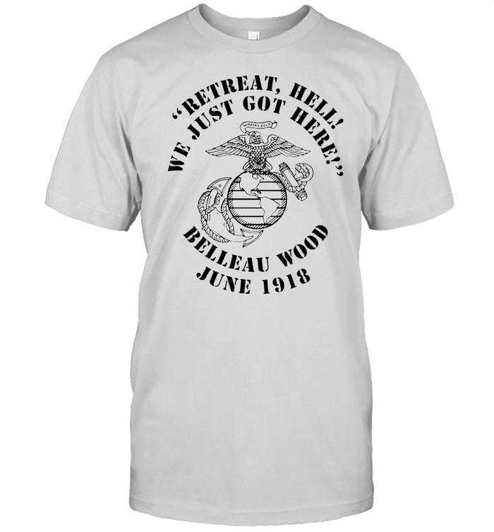 Marine Corps retreat hell we just got here shirt Classic Men's T-shirt