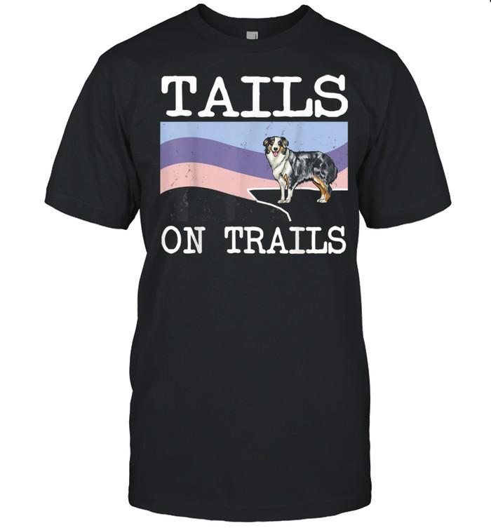 Tails On Trails Dog Hiking shirt Classic Men's T-shirt