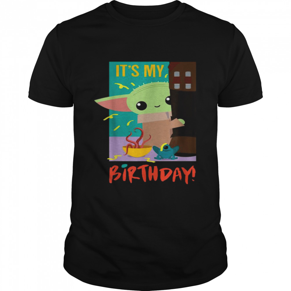 It's My Birthday Baby Yoda Star Wars The Mandalorian  Classic Men's T-shirt