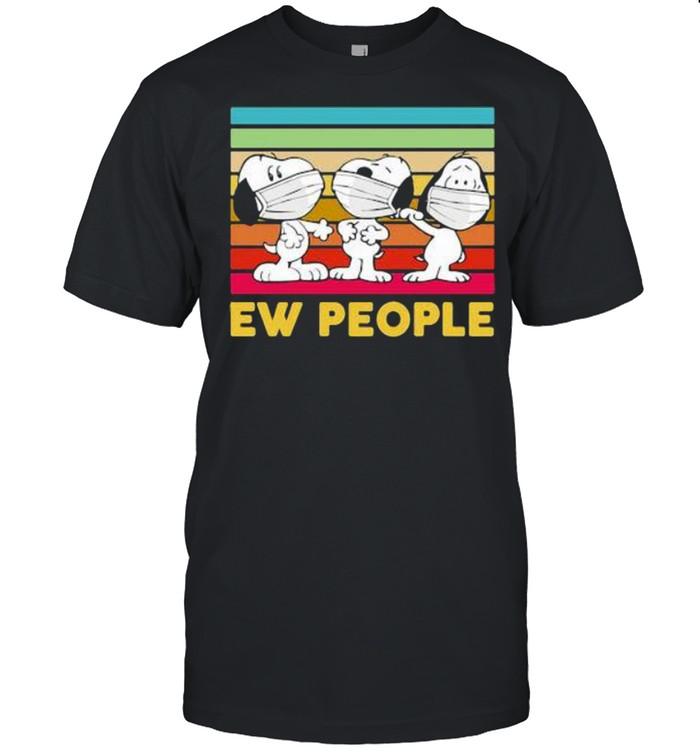 Ew People Three Snoopy Wear Mask VIntage  Classic Men's T-shirt