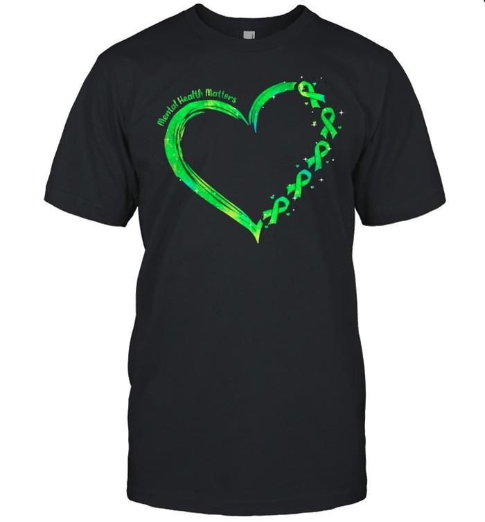 heart mental health matters shirt Classic Men's T-shirt