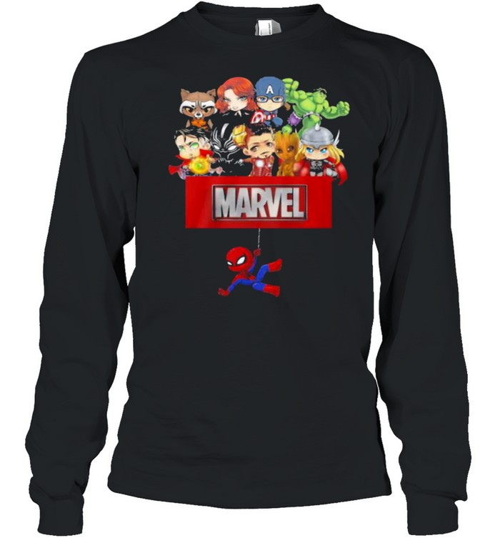 Marvel Hero Spiderman Avengers  Long Sleeved T-shirt