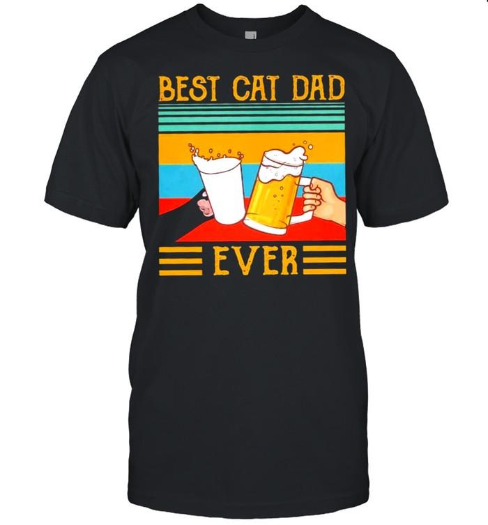 Best Cat Dad Ever vintage shirt Classic Men's T-shirt