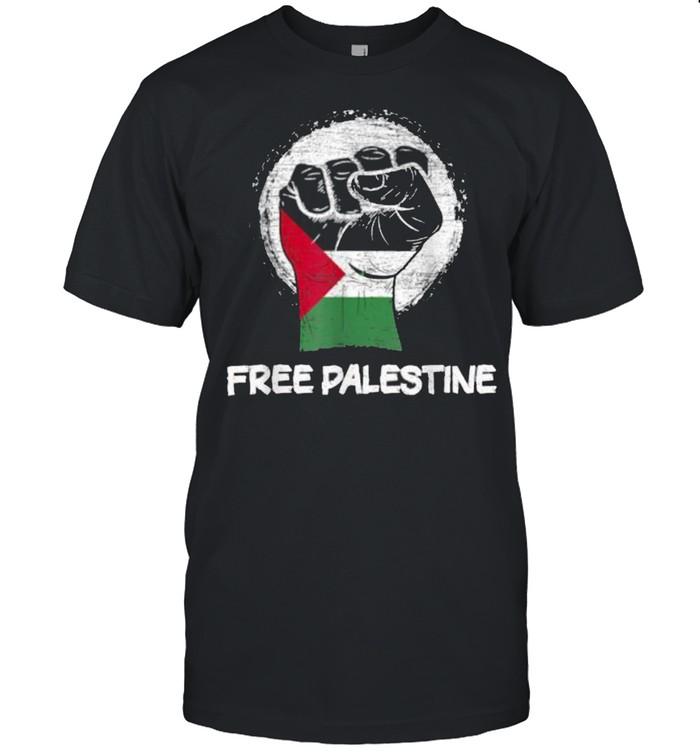 Hand Flag Free Palestine  Classic Men's T-shirt
