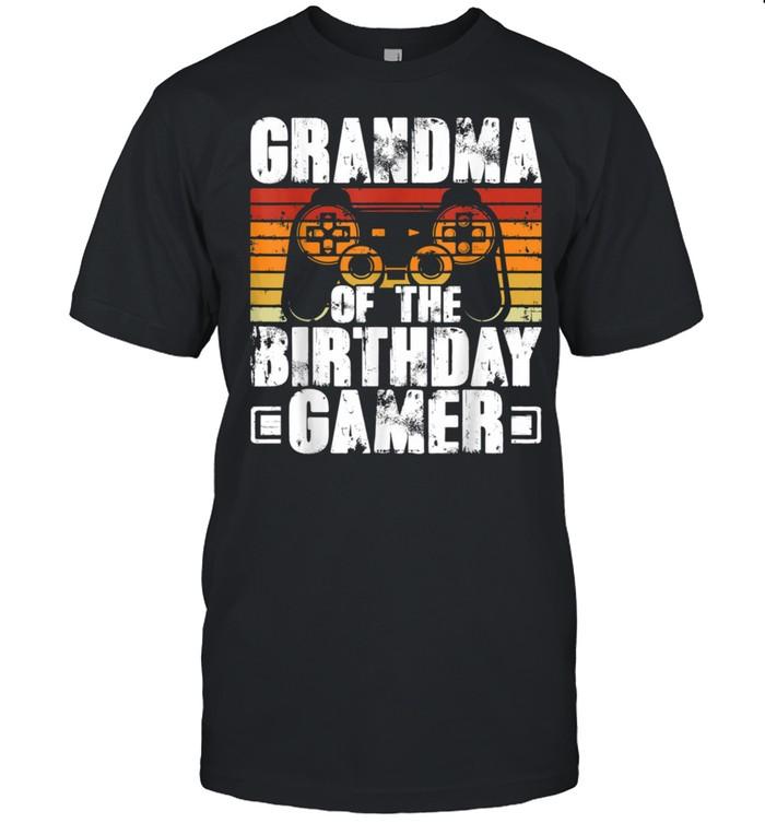 Grandma of the Birthday Gamer Boy Matching Video Gamer Party shirt Classic Men's T-shirt