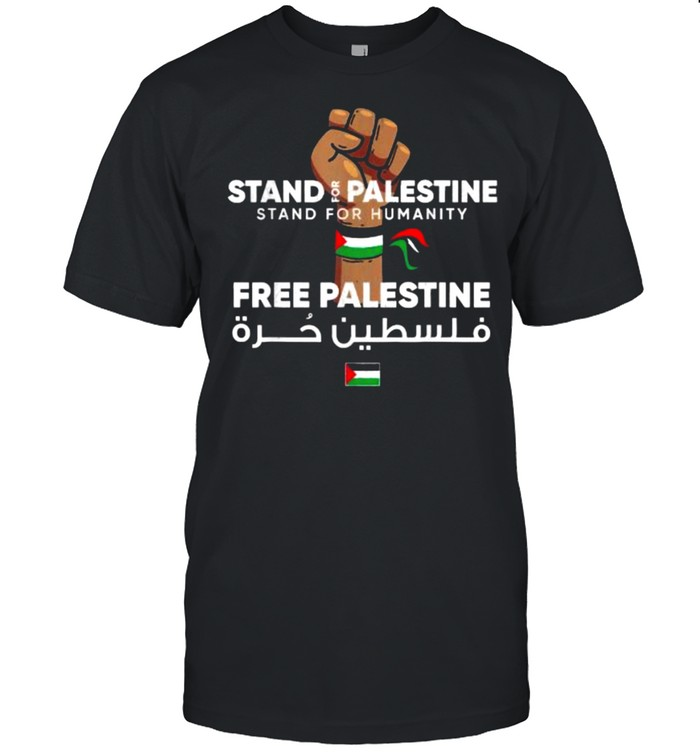 Stand For Palestine Free Palestine Flag T- Classic Men's T-shirt