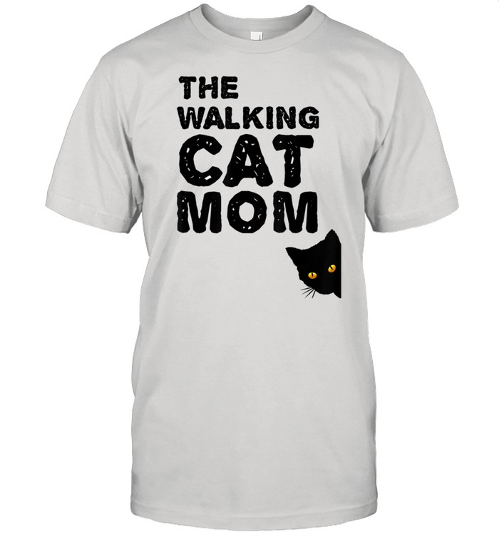 The walking cat mom best catmom takes her cat for a walk shirt Classic Men's T-shirt